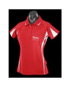Barker Aquatic Swim Club Ladies Leisure Polo Red