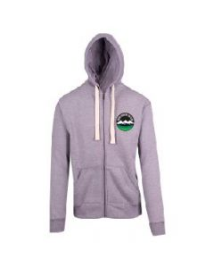 Snow Country Grey Marle Heavyweight Zipped Hoodie