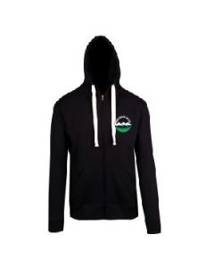 Snow Country Black Heavyweight Zipped Hoodie