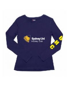 Sydney Uni Ladies Long Sleeve T. Navy