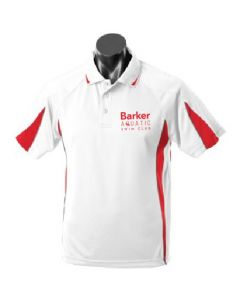 Barker Aquatic Swim Club Mens Leisure Polo White