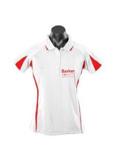 Barker Aquatic Swim Club Ladies Leisure Polo White