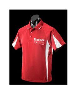 Barker Aquatic Swim Club Mens Leisure Polo Red