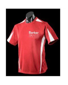 Barker Aquatic Swim Club Kids Leisure T Shirt Red